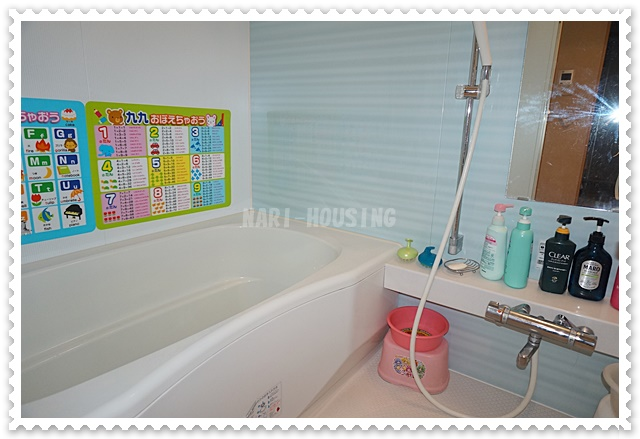 ブライティアテラスの爽やかな浴室は1日の疲れを癒してくれます