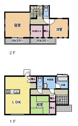 白幡 1380万円 間取り図