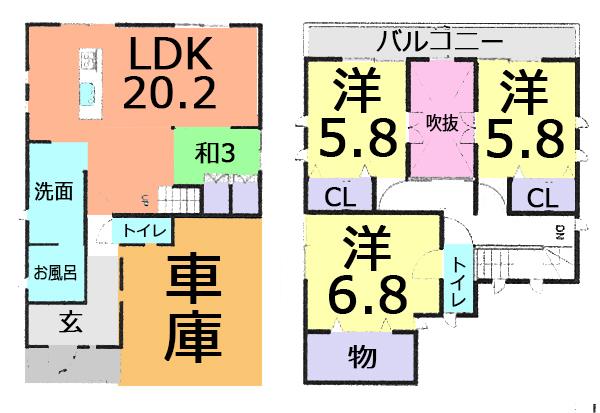 松戸市上矢切 新築一戸建て カースペース2台分 の画像