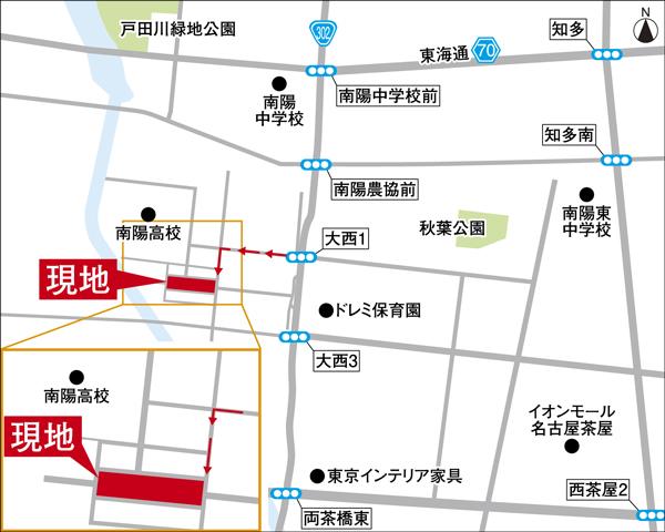 【ダイワハウス】セキュレア港区茶屋III (分譲住宅) ※付近案内図