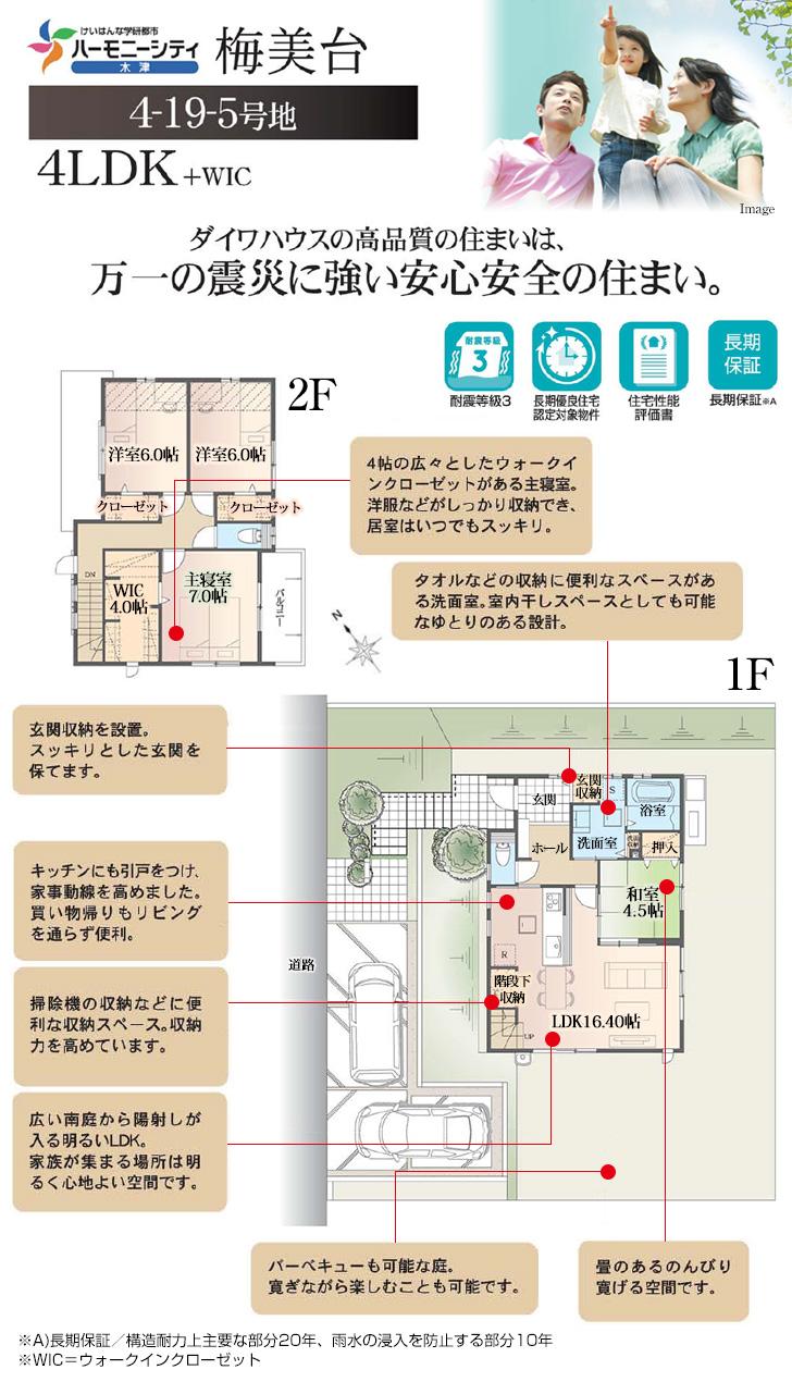 【ダイワハウス】ハーモニーシティ木津 梅美台(分譲住宅)の画像