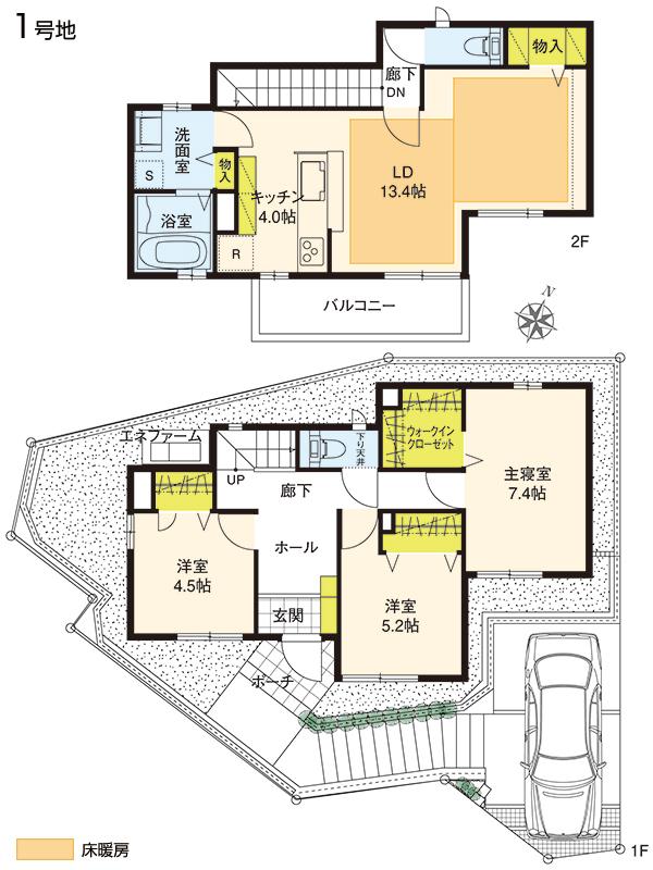 【ダイワハウス】プレシャススクエア妙蓮寺 (分譲住宅) 間取り図