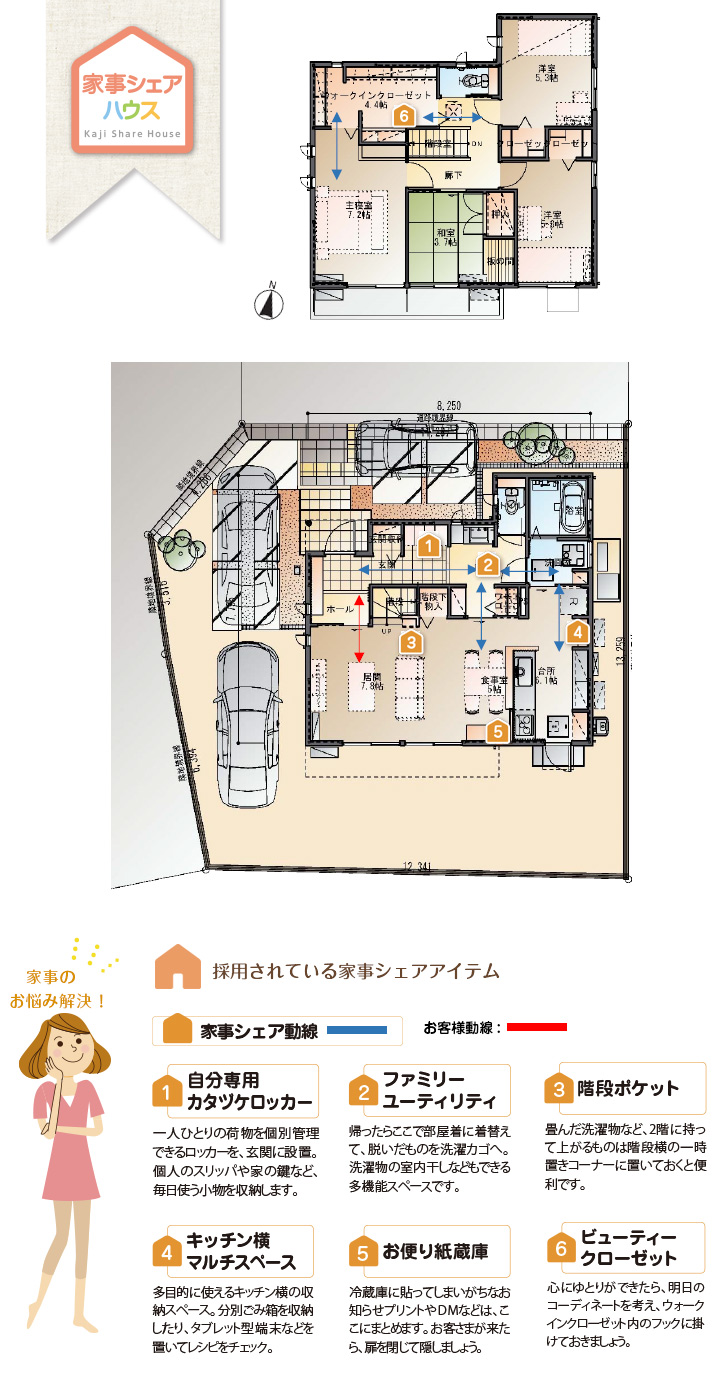 【ダイワハウス】セキュレア西阿知町西原 「家事シェアハウス」(分譲住宅)の画像