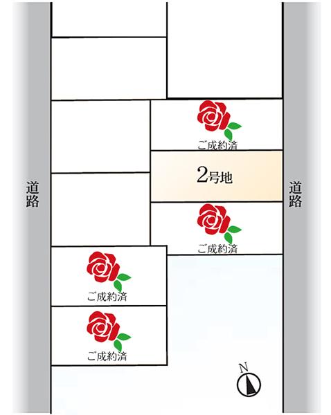 【ダイワハウス】セキュレア日進岩崎台 (分譲住宅) ※区画図