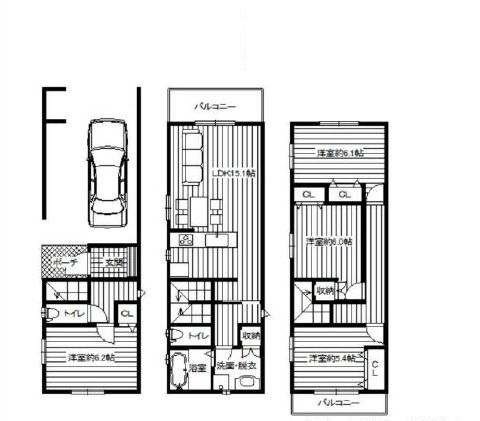 阿倍野区阪南町 新築戸建の画像