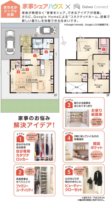 【ダイワハウス】まちなかジーヴォ元町「家事シェアハウス」 (分譲住宅)の画像