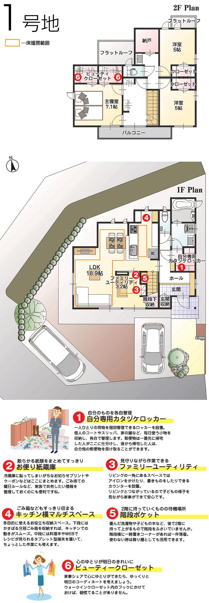 【ダイワハウス】まちなかジーヴォ篠ノ井駅西III 「家事シェアハウス」 (分譲住宅)の画像