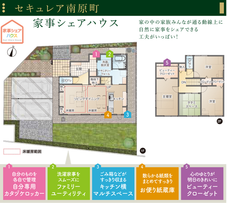 【ダイワハウス】セキュレア南原町「家事シェアハウス」 (分譲住宅)の画像