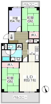 寝屋川東ファミリ-タウン西2番館