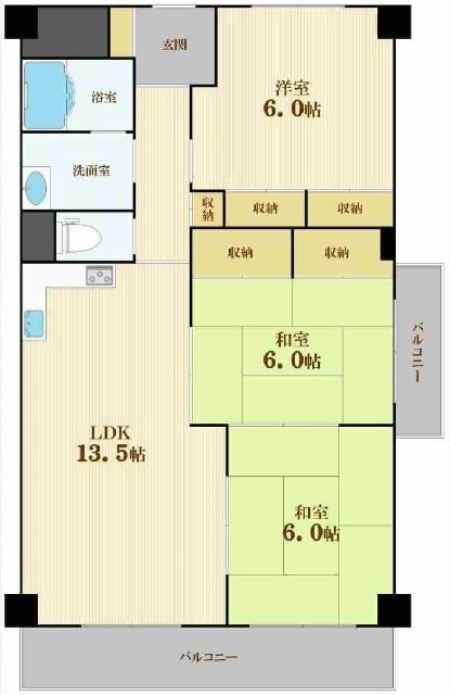 日商岩井野江マンション2階