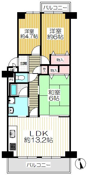 寝屋川東ファミリ-タウン中1番館