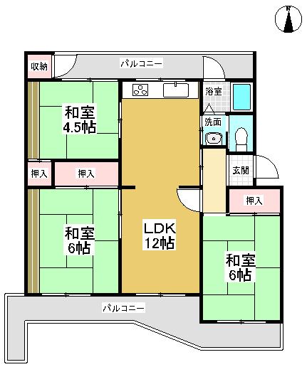 南円明寺ヶ丘団地8棟