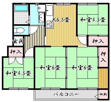 竹の台団地 D3棟