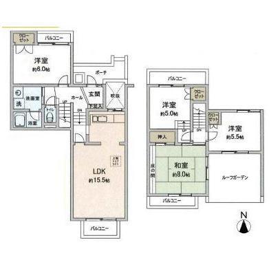 研究学園(1)団地弐壱参号棟