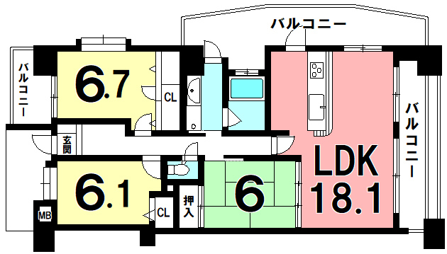 D'クラディア西田エステ-ジタワ-